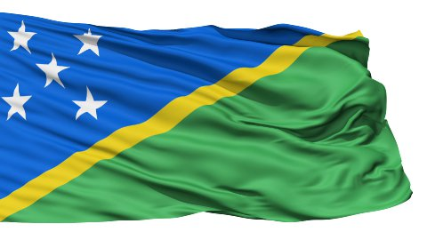 Waving national flag of Solomon Islands - stock footage