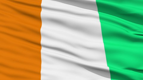 Waving national flag of Cote d'Ivoire - stock footage