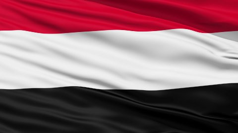 Waving national flag of Yemen - stock footage
