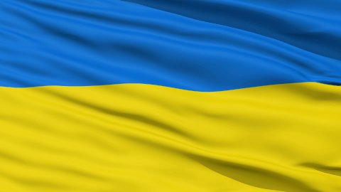 Waving national flag of Ukraine - stock footage