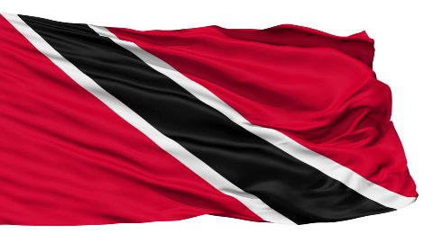 Waving national flag of Trinidad and Tobago - stock footage