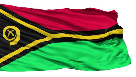 Waving national flag of Vanuatu - stock footage