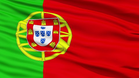 Waving national flag of Portugal - stock footage