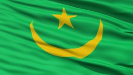 Waving national flag of Mauritania