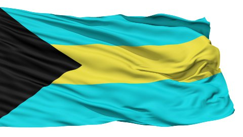 Waving national flag of Bahamas - stock footage