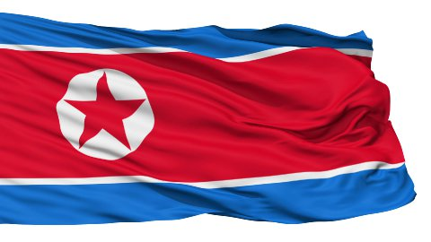 Waving national flag of North Korea - stock footage