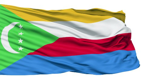 Waving national flag of Comoros - stock footage