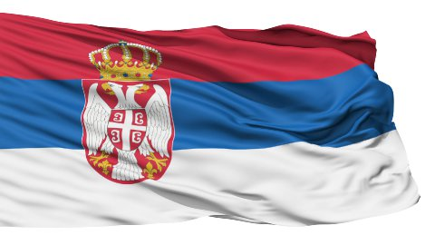 Waving national flag of Serbia - stock footage
