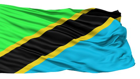 Waving national flag of Tanzania - stock footage