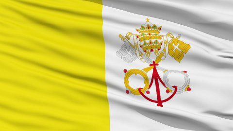 Waving national flag of Vatican - stock footage