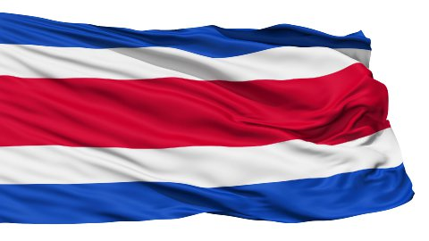 Waving national flag of Costarica - stock footage