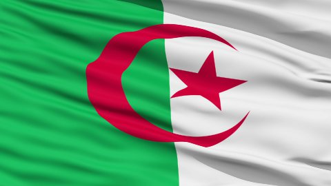 Waving national flag of Algeria - stock footage