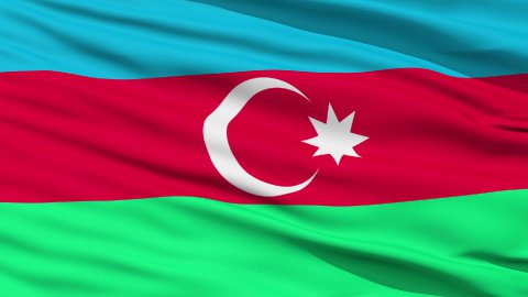 Waving national flag of Azerbaijan - stock footage