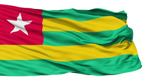 Waving national flag of Togo - stock footage