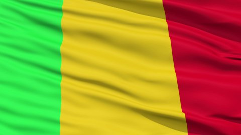 Waving national flag of Mali - stock footage