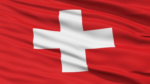 Waving national flag of Switzerland - stock footage