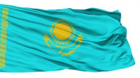 Waving national flag of Kazakhstan - motion graphic