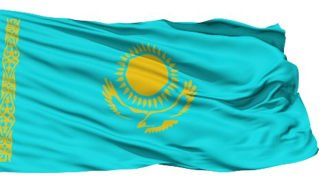 Waving national flag of Kazakhstan - stock footage