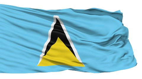 Waving national flag of Saint Lucia - stock footage
