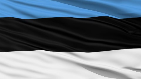 Waving national flag of Estonia - stock footage