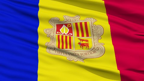 Waving national flag of Andorra - stock footage