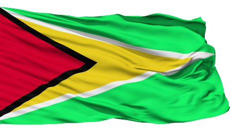 Waving national flag of Guyana - stock footage