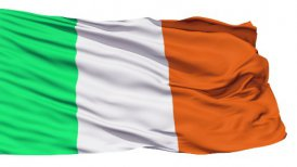 Waving national flag of Ireland - editable clip, motion graphic, stock footage
