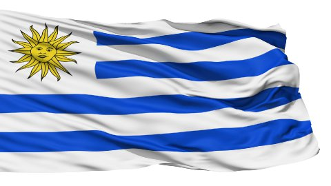 Waving national flag of Uruguay - stock footage