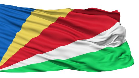 Waving national flag of Seychelles - stock footage