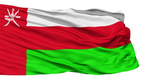 Waving national flag of Oman - stock footage