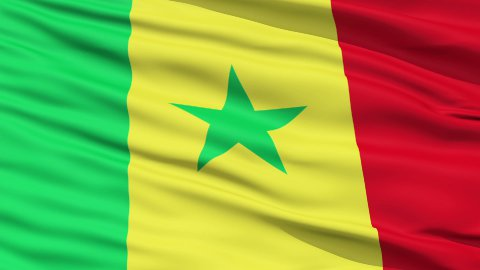 Waving national flag of Senegal - stock footage