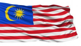 Waving national flag of Malaysia
