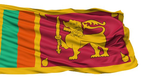 Waving national flag of Sri Lanka - stock footage