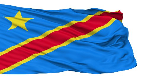 Waving national flag of Congo - stock footage