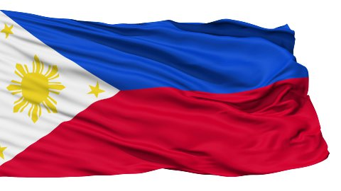 Waving national flag of Philippines - stock footage