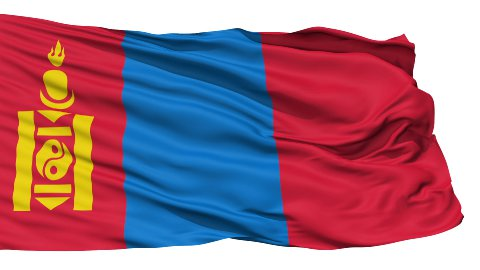 Waving national flag of Mongolia - stock footage