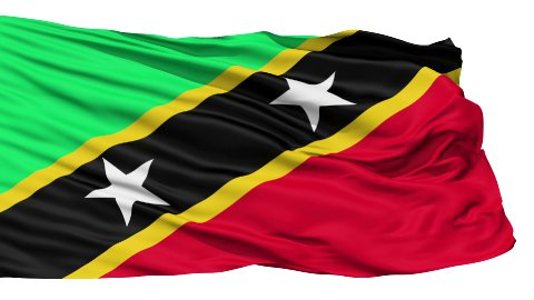 Waving national flag of Saint Kitts - stock footage