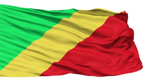 Waving national flag of Republic of Congo - stock footage