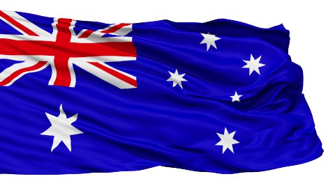 Waving national flag of Australia LOOP - stock footage