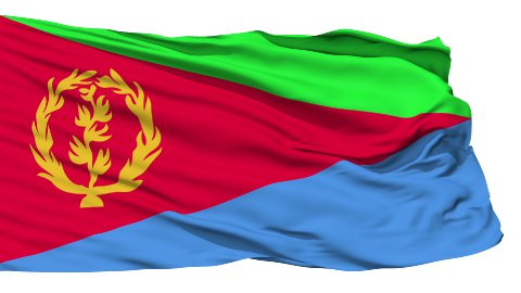 Waving national flag of Eritrea LOOP - stock footage
