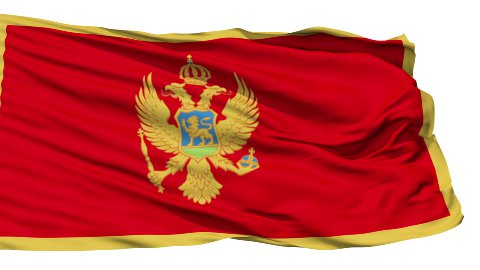 Waving national flag of Montenegro LOOP - stock footage