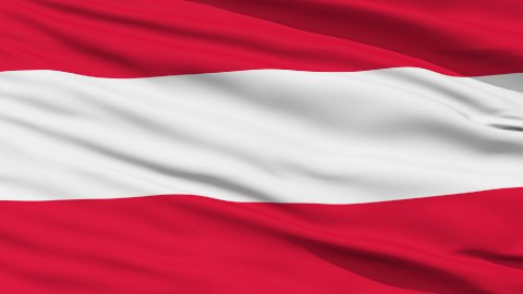 Waving national flag of Austria LOOP - stock footage