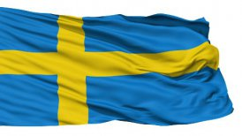 Waving national flag of Sweden LOOP