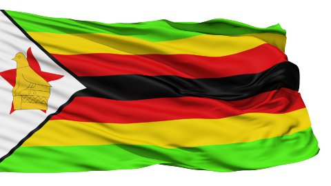 Waving national flag of Zimbabwe LOOP - stock footage