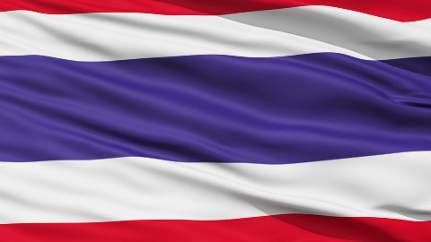 Waving national flag of Thailand LOOP - stock footage