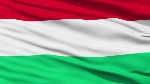 Waving national flag of Hungary LOOP - stock footage