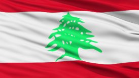 Waving national flag of Lebanon LOOP