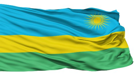 Waving national flag of Rwanda LOOP - stock footage