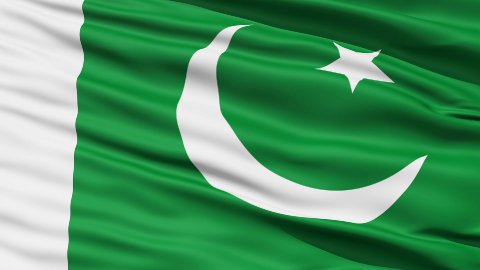 Waving national flag of Pakistan LOOP - stock footage