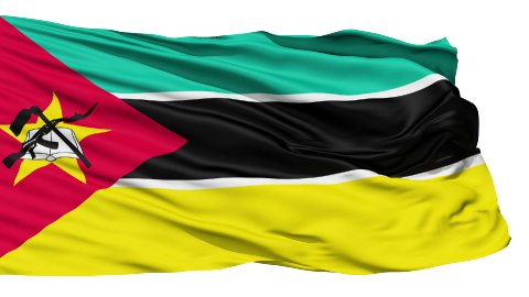 Waving national flag of Mozambique LOOP - stock footage